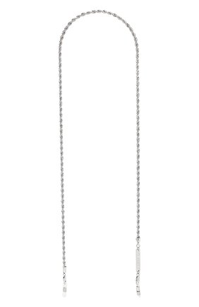 Женские цепочка для очков FRAME CHAIN серебряного цвета, арт. R0LLER CHAIN WHITE   Фото 1 (Тип очков: Цепочка)