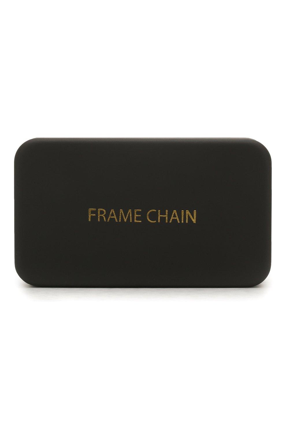 Женские цепочка для очков FRAME CHAIN серебряного цвета, арт. R0LLER CHAIN WHITE   Фото 5 (Тип очков: Цепочка)