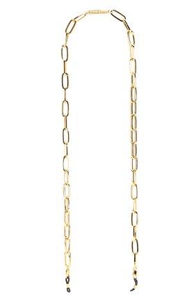 Женские цепочка для очков FRAME CHAIN золотого цвета, арт. THE R0N YELL0W | Фото 1