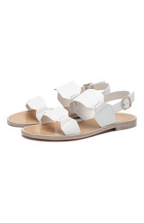 Женские кожаные сандалии SANTONI белого цвета, арт. WHLK58718HI1TLGAI70 | Фото 1
