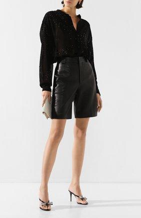 Женские кожаные мюли lexi SAINT LAURENT черного цвета, арт. 606419/EX7I0 | Фото 2
