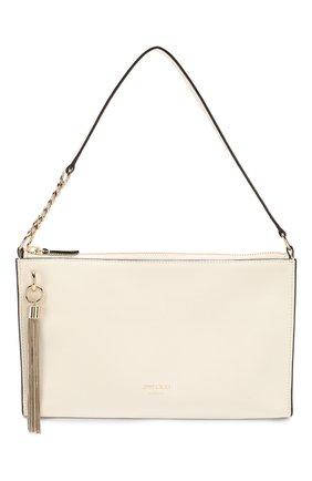 Женская сумка callie mini JIMMY CHOO белого цвета, арт. CALLIE MINI H0B0/PKR   Фото 1 (Размер: mini; Материал: Натуральная кожа; Сумки-технические: Сумки top-handle)