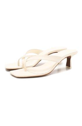Женские кожаные мюли NEOUS белого цвета, арт. 00183A10   Фото 1