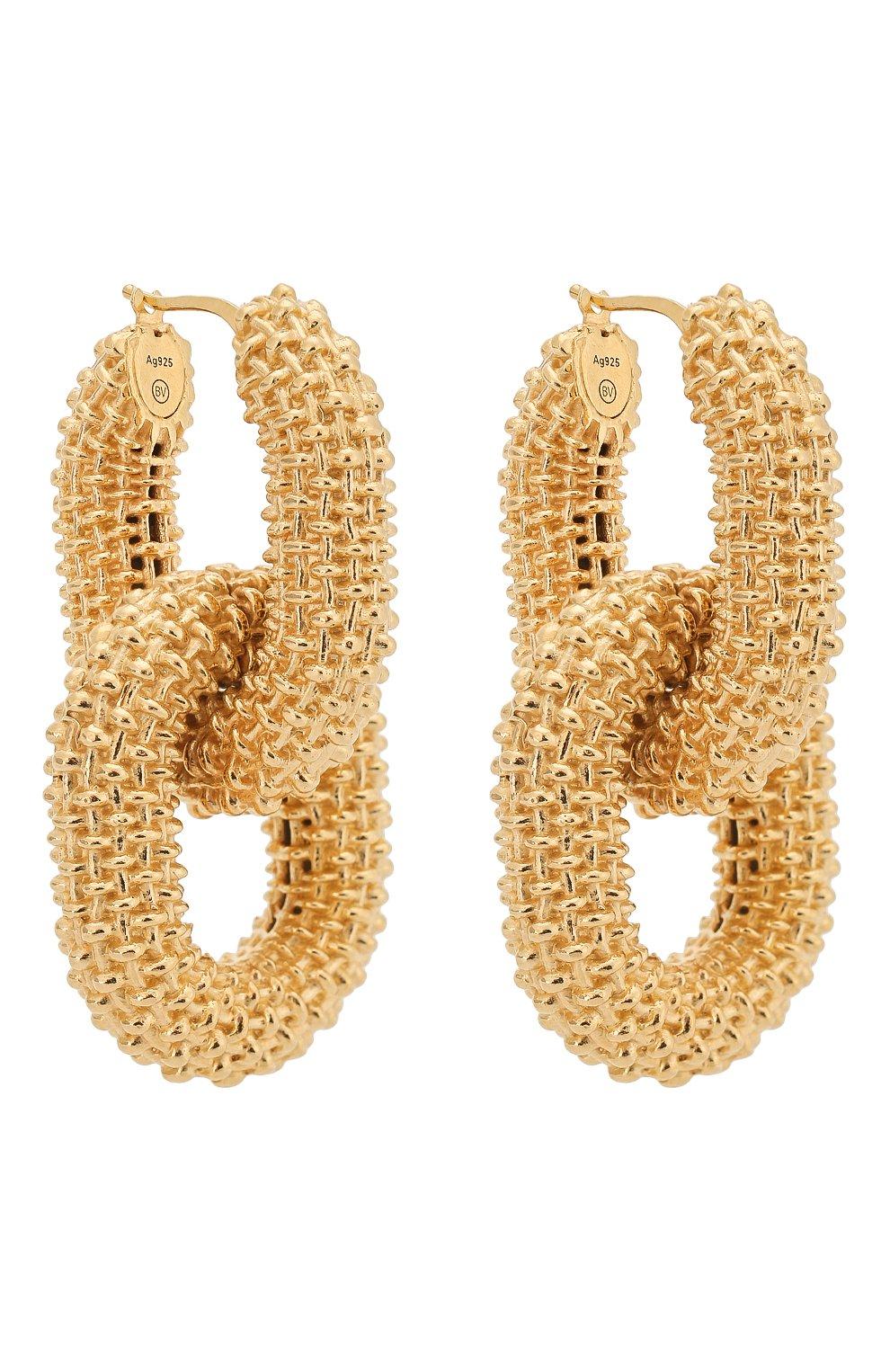 Женские серьги BOTTEGA VENETA золотого цвета, арт. 617412/VAHU0 | Фото 3