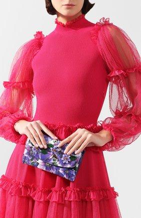 Женские кожаный кошелек на цепочке DOLCE & GABBANA сиреневого цвета, арт. BI0977/AJ883 | Фото 2