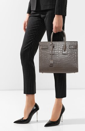 Женская сумка sac de jour small SAINT LAURENT бежевого цвета, арт. 378299/DZEAW | Фото 2
