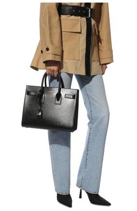 Женская сумка sac de jour small SAINT LAURENT черного цвета, арт. 378299/02G9W | Фото 2
