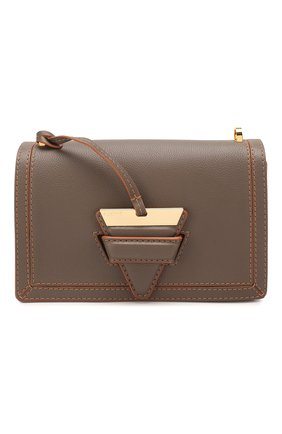 Женская сумка barcelona LOEWE серого цвета, арт. 303.12.W89 | Фото 1 (Ремень/цепочка: На ремешке; Размер: small; Материал: Натуральная кожа; Сумки-технические: Сумки через плечо)