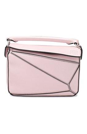 Женская сумка puzzle mini LOEWE светло-розового цвета, арт. 322.45.U95   Фото 1