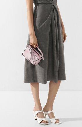 Женская сумка puzzle mini LOEWE светло-розового цвета, арт. 322.45.U95   Фото 2