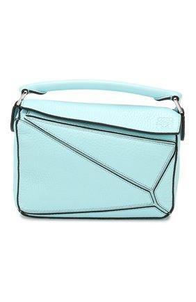 Женская сумка puzzle mini LOEWE голубого цвета, арт. 322.45.U95   Фото 1