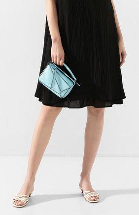 Женская сумка puzzle mini LOEWE голубого цвета, арт. 322.45.U95   Фото 2