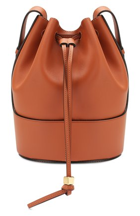 Женская сумка balloon small LOEWE светло-коричневого цвета, арт. 326.75AC31 | Фото 1
