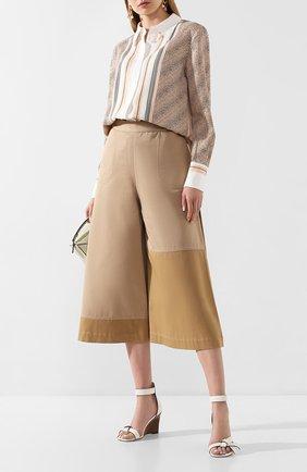 Женские кожаные босоножки LOEWE белого цвета, арт. 453.10.637 | Фото 2