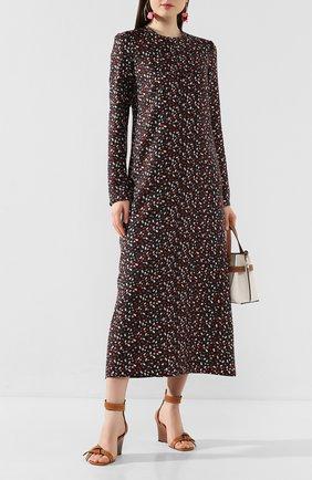 Женские кожаные босоножки LOEWE светло-коричневого цвета, арт. 453.10.637 | Фото 2