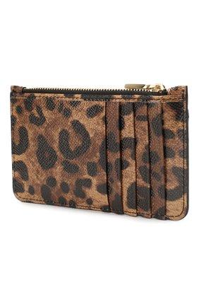 Женский кожаный футляр для кредитных карт DOLCE & GABBANA леопардового цвета, арт. BI1032/AI915 | Фото 2