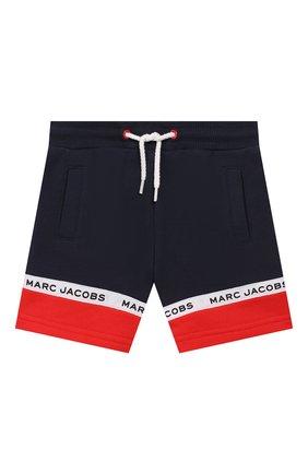 Детские хлопковые шорты MARC JACOBS (THE) темно-синего цвета, арт. W04178 | Фото 1