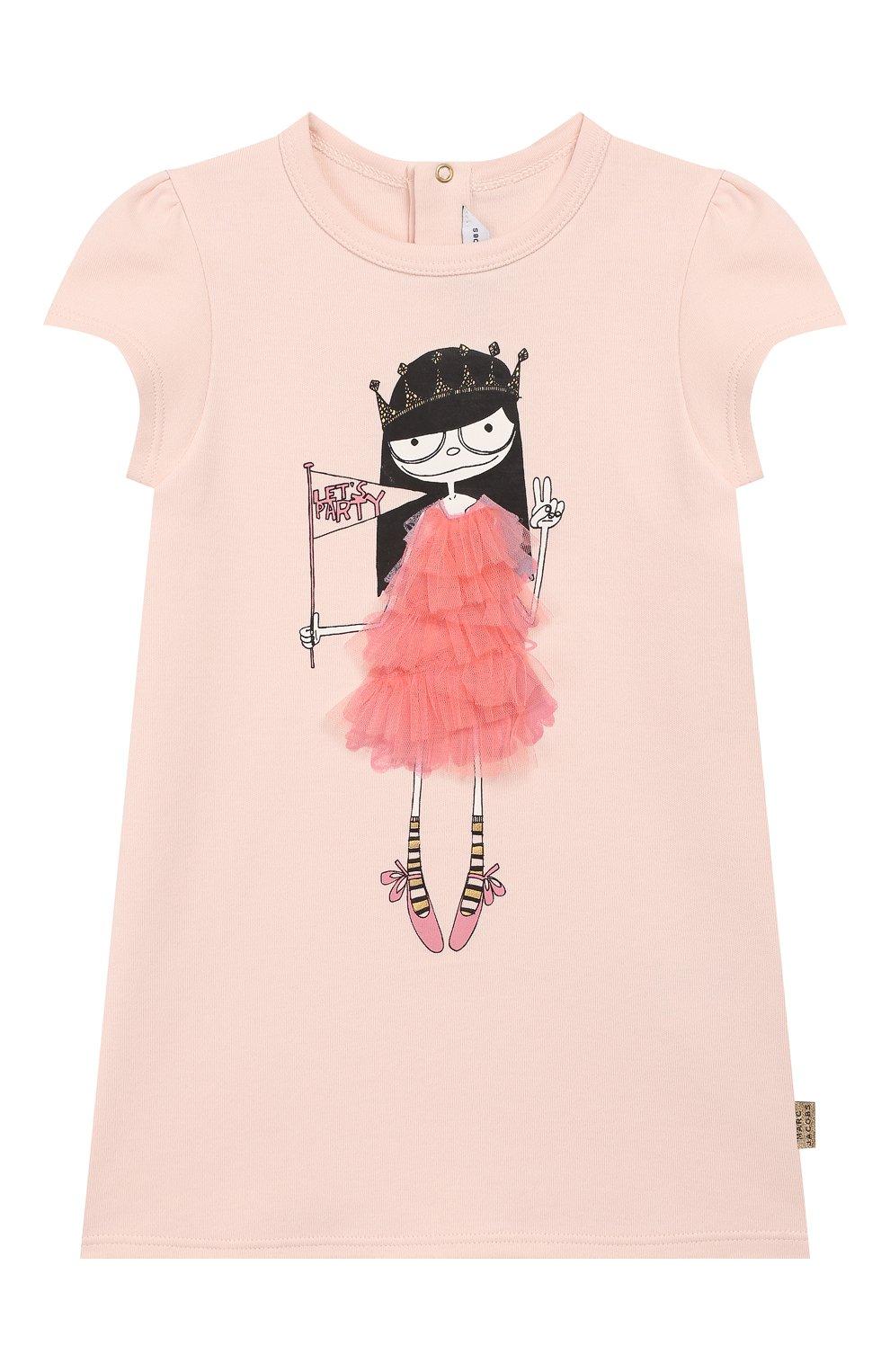 Женская хлопковое платье MARC JACOBS (THE) светло-розового цвета, арт. W02144 | Фото 1
