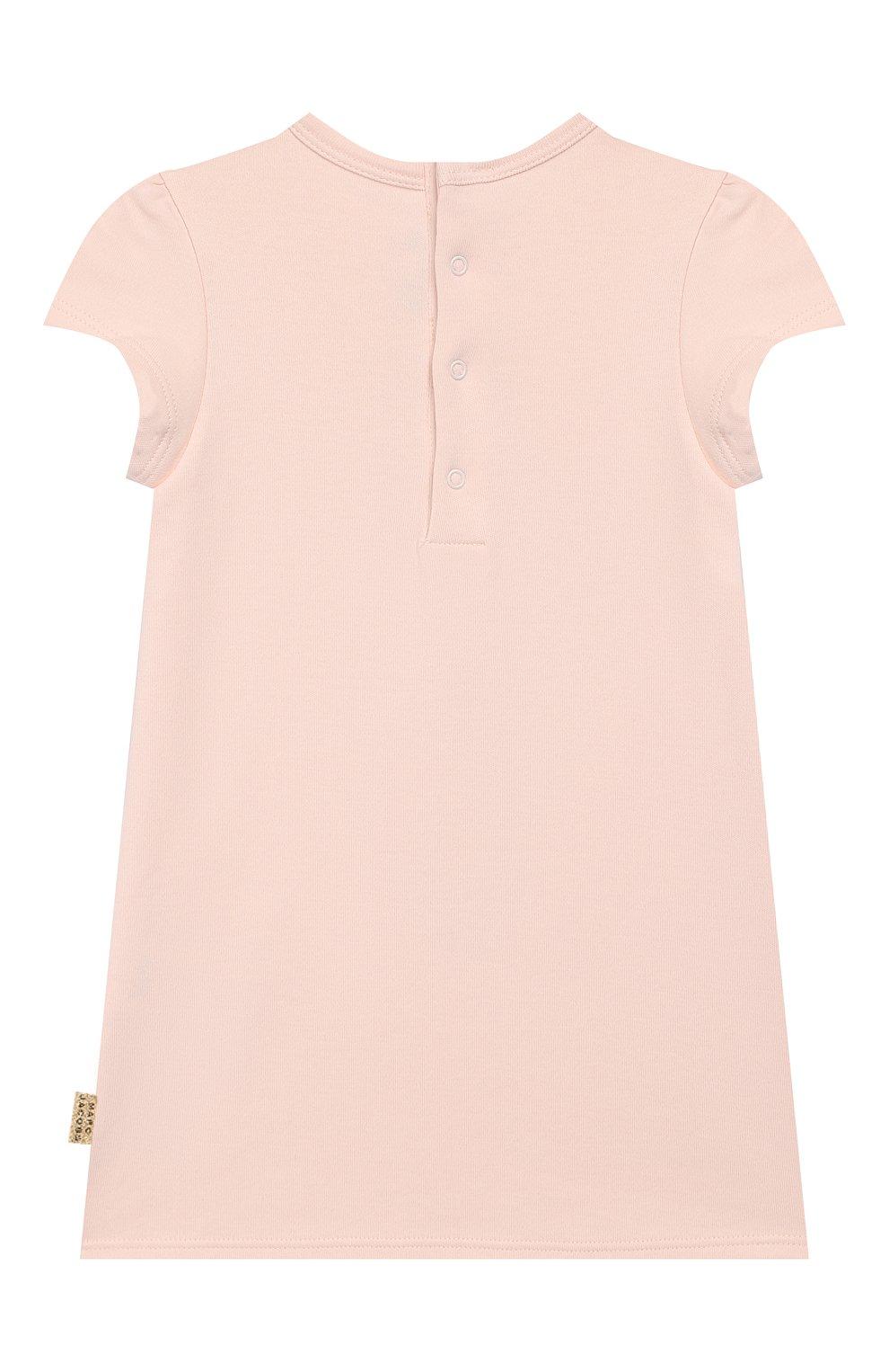 Женская хлопковое платье MARC JACOBS (THE) светло-розового цвета, арт. W02144 | Фото 2