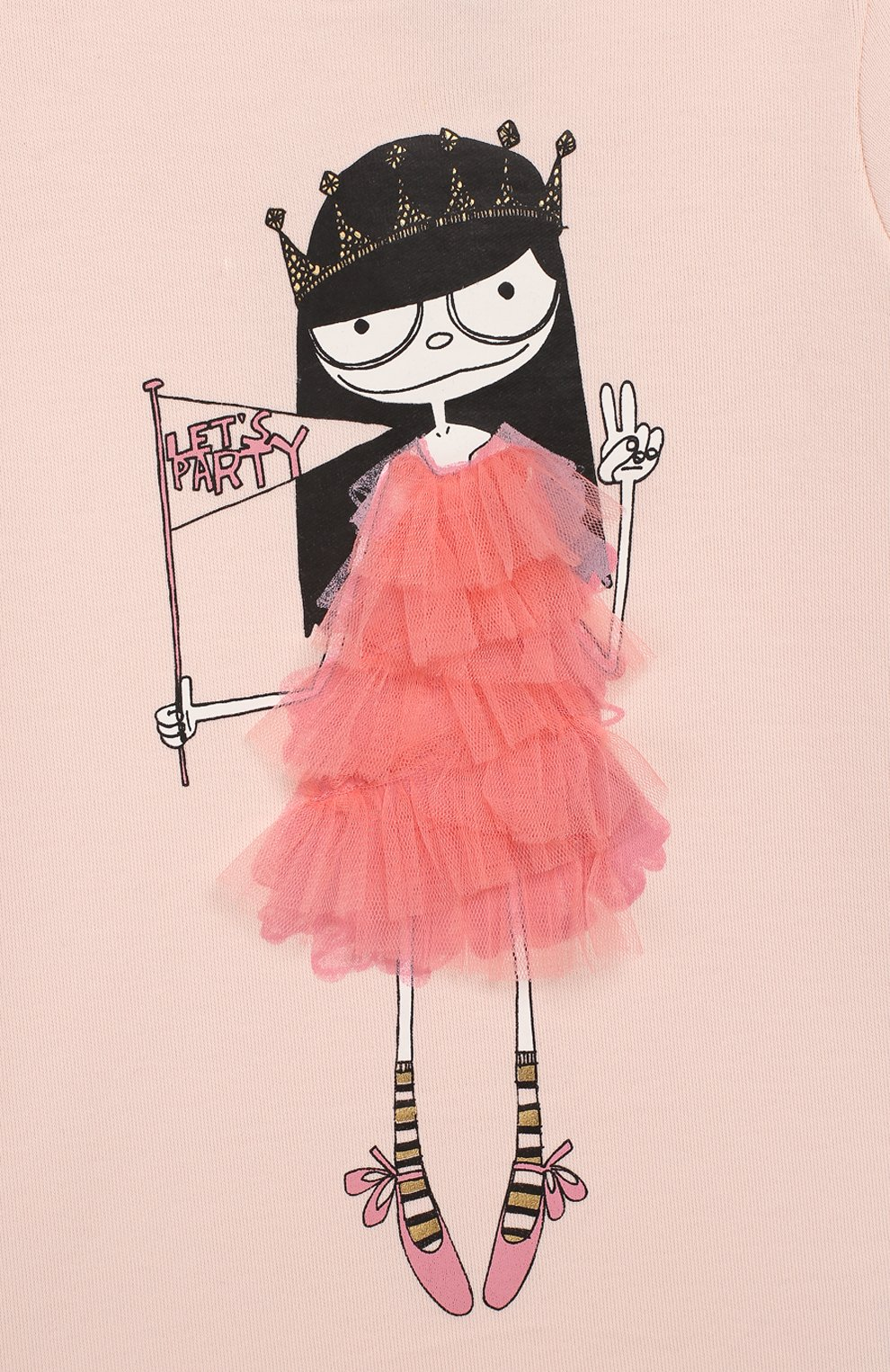 Женская хлопковое платье MARC JACOBS (THE) светло-розового цвета, арт. W02144 | Фото 3