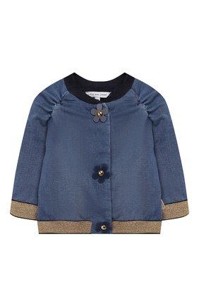 Детского джинсовый бомбер MARC JACOBS (THE) голубого цвета, арт. W06056 | Фото 1