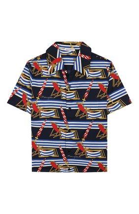 Детская хлопковая рубашка DOLCE & GABBANA синего цвета, арт. L43S06/HS5GS/2-6 | Фото 1