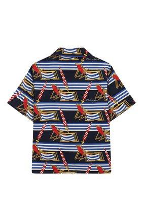 Детская хлопковая рубашка DOLCE & GABBANA синего цвета, арт. L43S06/HS5GS/2-6 | Фото 2