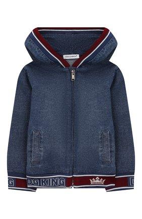 Детского джинсовая куртка DOLCE & GABBANA синего цвета, арт. L1JW1H/G7VMV | Фото 1