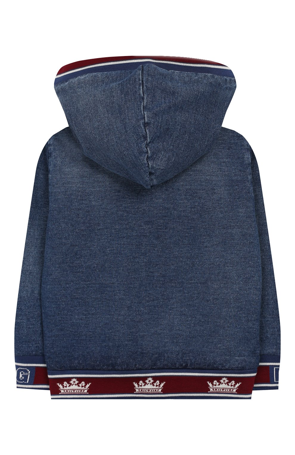 Детского джинсовая куртка DOLCE & GABBANA синего цвета, арт. L1JW1H/G7VMV | Фото 2