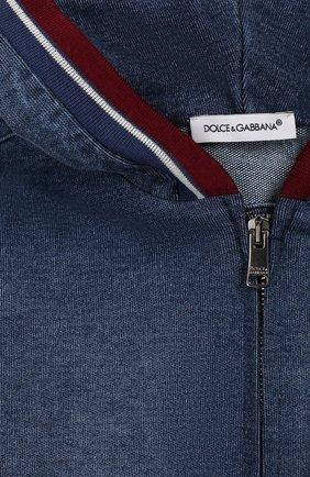 Детского джинсовая куртка DOLCE & GABBANA синего цвета, арт. L1JW1H/G7VMV | Фото 3