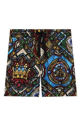 Детские хлопковые шорты DOLCE & GABBANA разноцветного цвета, арт. L12Q52/HS5GL | Фото 1