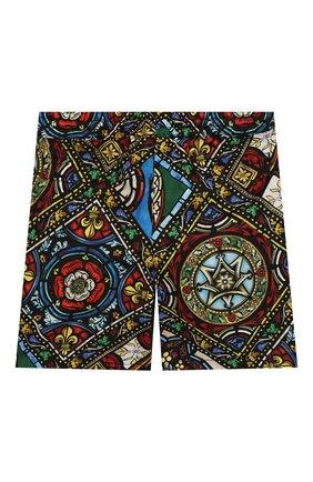 Детские хлопковые шорты DOLCE & GABBANA разноцветного цвета, арт. L12Q52/HS5GL | Фото 2