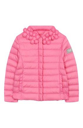 Детского пуховая куртка IL GUFO розового цвета, арт. P20GR150N0035/5A-8A | Фото 1