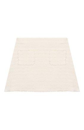Детская хлопковая юбка IL GUFO белого цвета, арт. P20GN170C0049/5A-8A | Фото 1