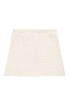 Детская хлопковая юбка IL GUFO белого цвета, арт. P20GN170C0049/5A-8A | Фото 2