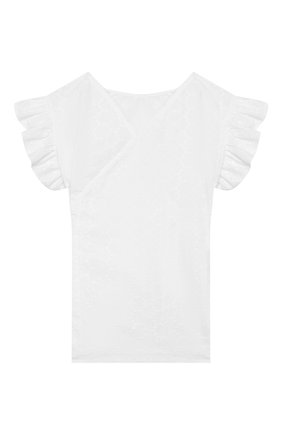 Детское хлопковая блузка IL GUFO белого цвета, арт. P20CC068C5041/5A-8A | Фото 1