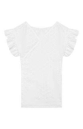 Детское хлопковая блузка IL GUFO белого цвета, арт. P20CC068C5041/2A-4A | Фото 1