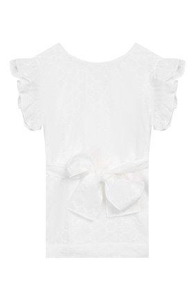 Детское хлопковая блузка IL GUFO белого цвета, арт. P20CC068C5041/2A-4A | Фото 2
