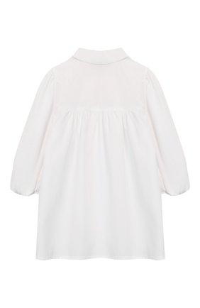 Детское хлопковая блузка IL GUFO белого цвета, арт. P20CC062C0048/2A-4A | Фото 2