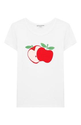 Детская футболка SONIA RYKIEL ENFANT белого цвета, арт. 20S1TS37 | Фото 1