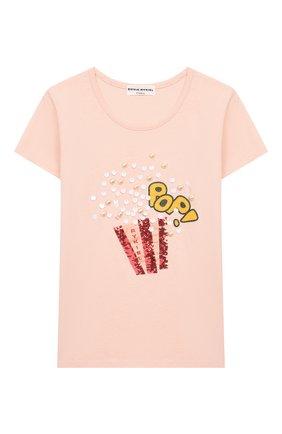 Детская футболка SONIA RYKIEL ENFANT светло-розового цвета, арт. 20S1TS13 | Фото 1