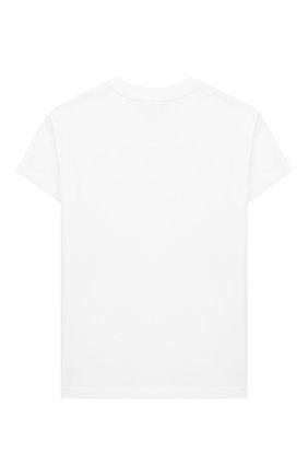 Детская хлопковая футболка SONIA RYKIEL ENFANT белого цвета, арт. 20S1TS09 | Фото 2