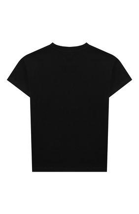 Детская хлопковая футболка SONIA RYKIEL ENFANT черного цвета, арт. 20S1TS09 | Фото 2