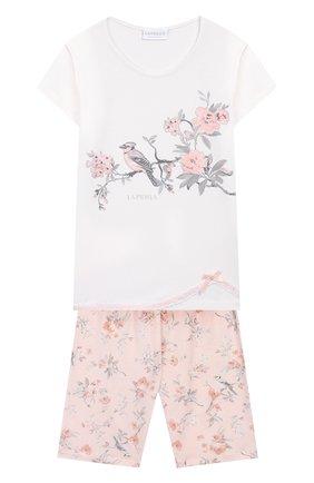 Детская пижама LA PERLA белого цвета, арт. 71071/2A-6A | Фото 1