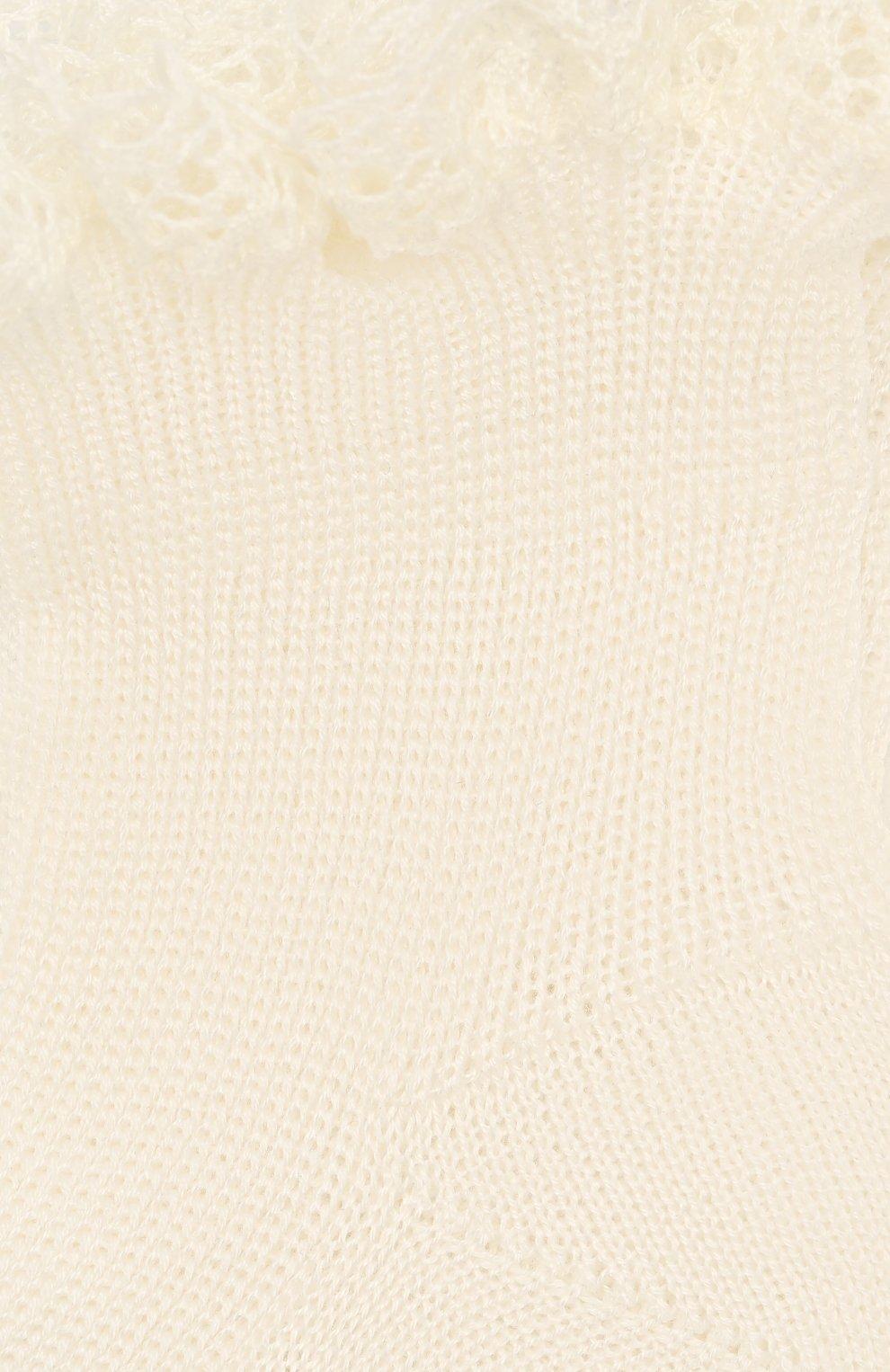 Детские хлопковая носки LA PERLA бежевого цвета, арт. 43455 | Фото 2