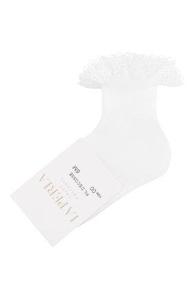 Детские хлопковая носки LA PERLA белого цвета, арт. 43455 | Фото 1