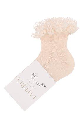 Детские хлопковая носки LA PERLA розового цвета, арт. 43455 | Фото 1