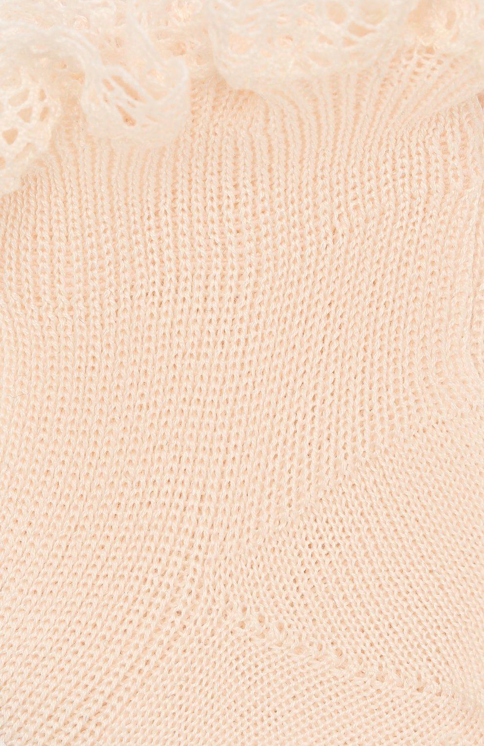 Детские хлопковая носки LA PERLA розового цвета, арт. 43455 | Фото 2