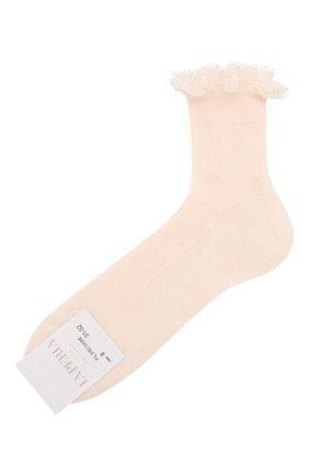 Детские хлопковые носки LA PERLA розового цвета, арт. 43455/29-32 | Фото 1