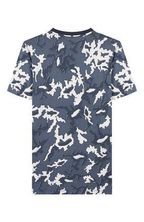 Детская хлопковая футболка STONE ISLAND темно-синего цвета, арт. 721621650/10-12 | Фото 2